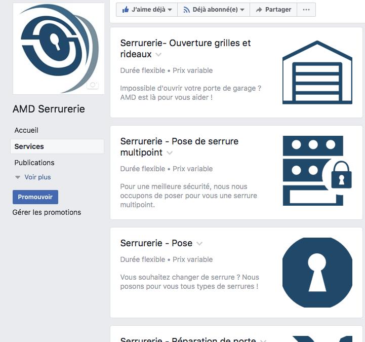 Nos services directement sur notre page Facebook